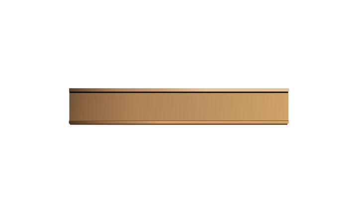 1 X 8 Inch Rose Gold Aluminium Wall Door Plate Holder
