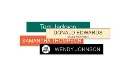 1x8 inch Engraved Plastic Name Plate