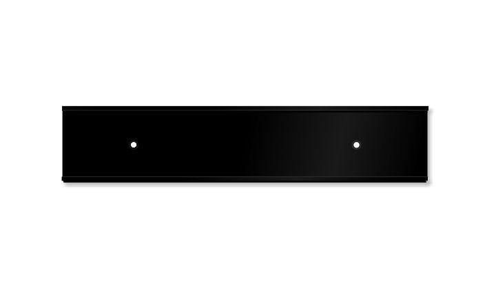 2 X 10 Inch Matte Black Aluminium Wall Door Plate Holder