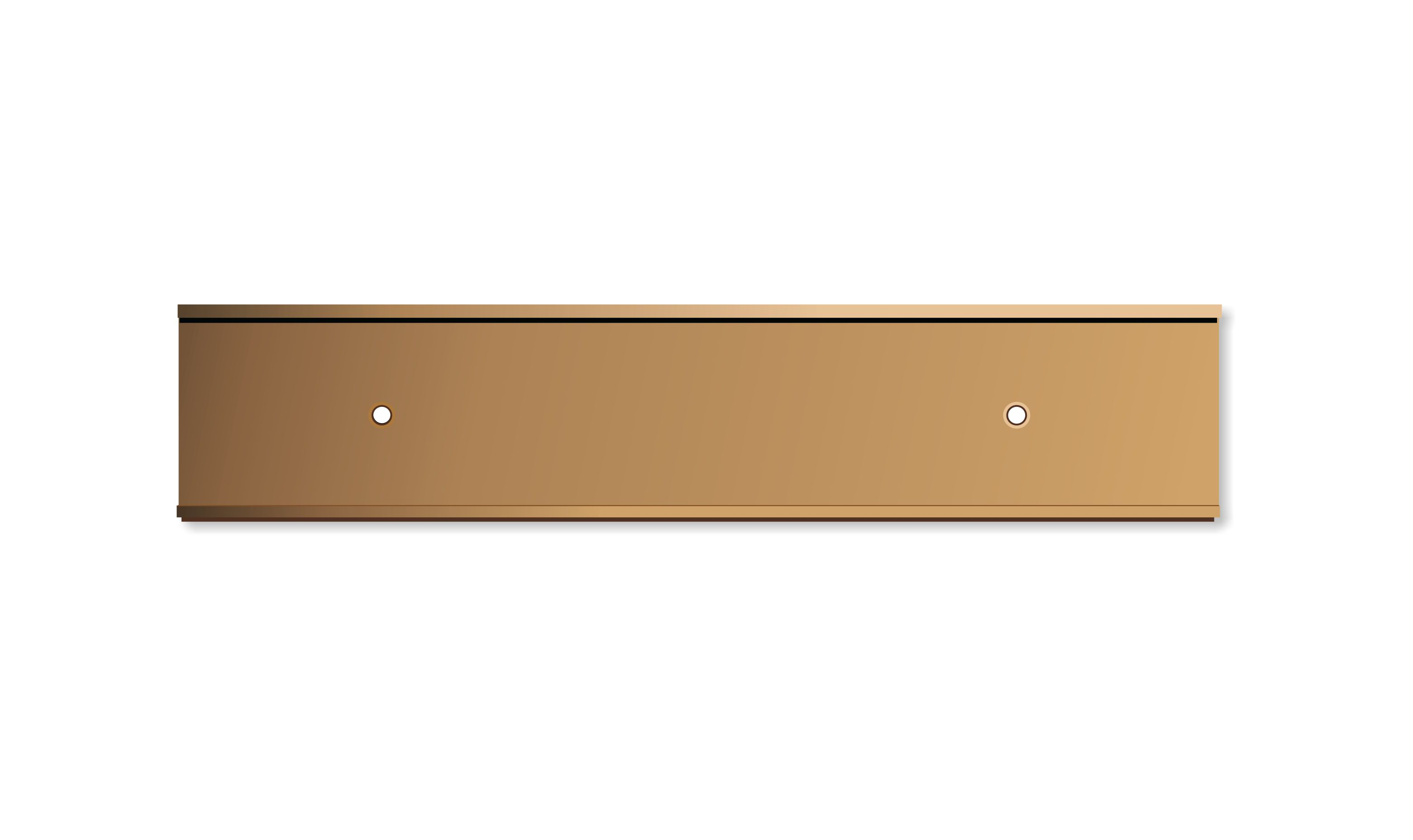 2 X 10 Inch Rose Gold Aluminium Wall Door Plate Holder