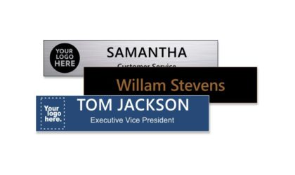 2 x 10 inch Engraved Plastic Name Plate