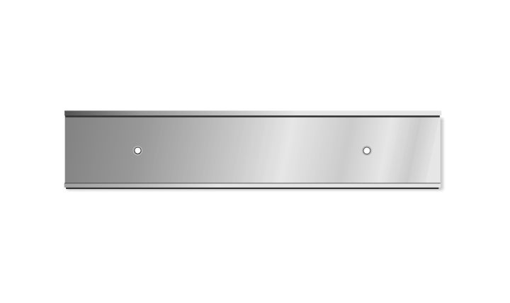 2 X 10 Inch Silver Aluminium Wall Door Plate Holder