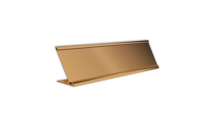 2 X 8 Inch Rose Gold Aluminium Desk Plate Holder