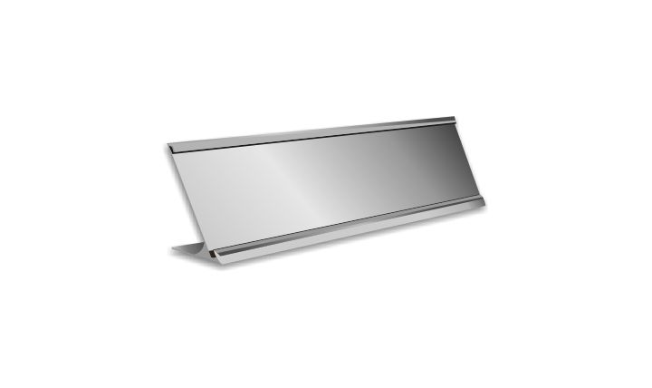 2 X 8 Inch Silver Aluminium Desk Plate Holder