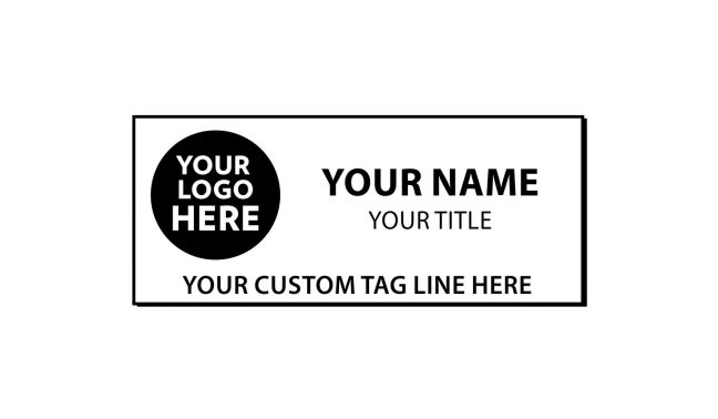 3 x 1 1/4 inch Engraved Plastic Name Tag with Beveled Edge