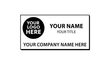 3 x 1 1/2 inch Engraved Plastic Name Tag with Beveled Edge
