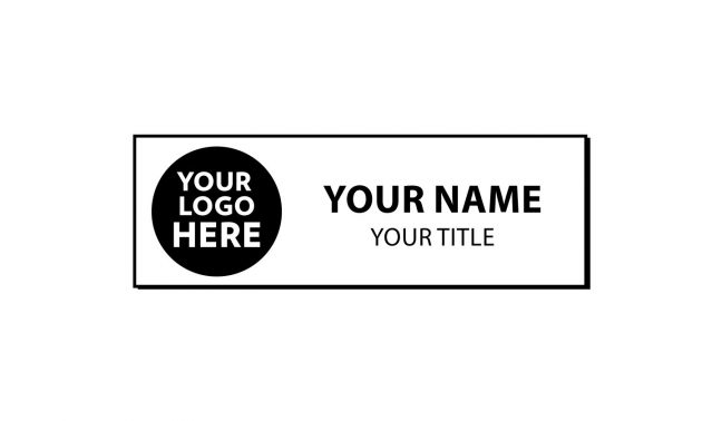 3 x 1 inch Beveled Edge Engraved Plastic Name Tag