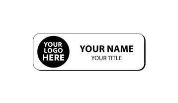 3 x 1 inch Rounded Corner Engraved Plastic Name Tag