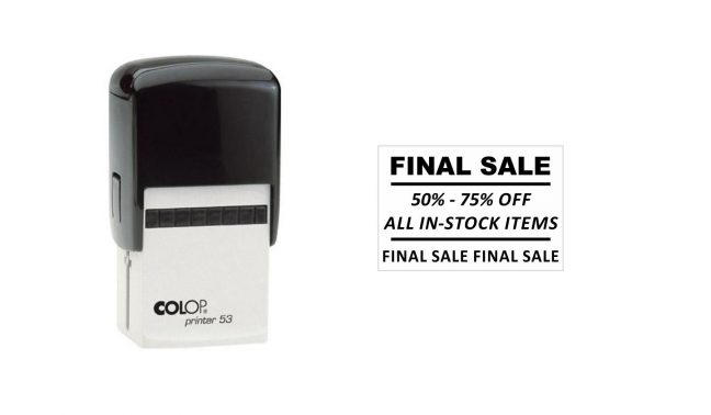 Colop Printer 53 Self-Inking Stamp