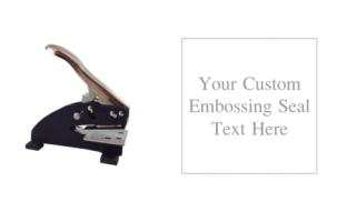 1 5/8 -inch square custom text embosser