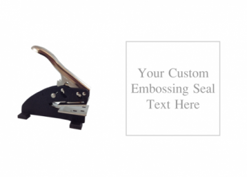 1 5/8 -inch square custom text embosser