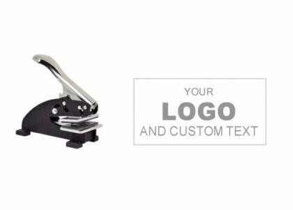 2 x 1 inch Custom Logo Desk Embosser