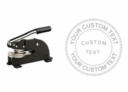 2 inch Long Reach Custom Text Desk Embosser