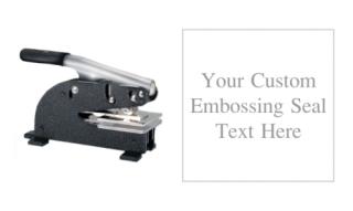 2 x 2 inch Square Long Reach Custom Embosser