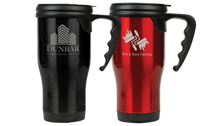 3fa9f993247 16oz Stainless Steel Travel Mug with Handle