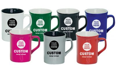 Laser Engraved 10oz Ceramic Coffee Mugs