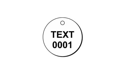 1 1/2 x 1 1/2 inch Round Engraved Plastic Lamacoid Tags