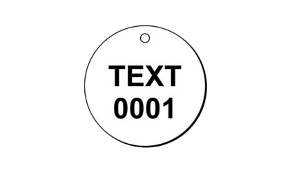 2 x 2 inch Round Engraved Plastic Lamacoid Tags