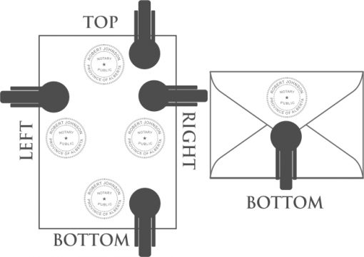 Embossing Seal Position Diagram