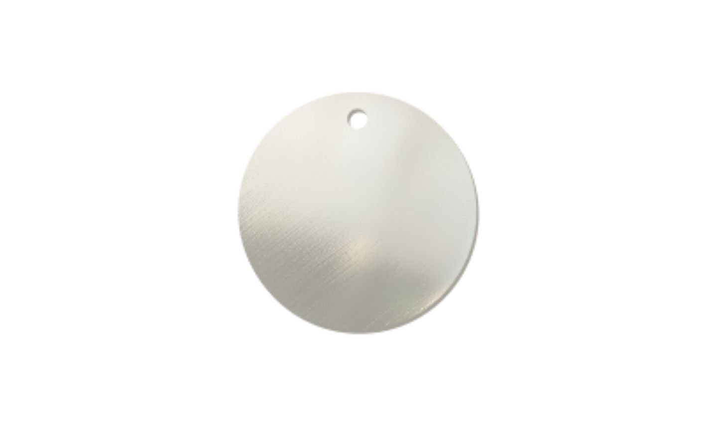 Blank Stainless Steel Tag 1 1 2 Inch Dia