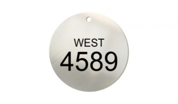 2 inch Laser Etched Stainless Steel Tags