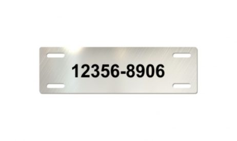3 x 7/8 inch Laser Engraved Stainless Steel Cable Tags