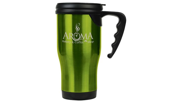 16oz Stainless Steel Travel Mug With Handle