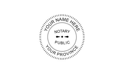 Notary Public Rubber Stamp B