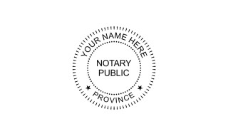 Notary Public Rubber Stamp C