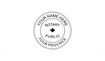 Notary Public Rubber Stamp D