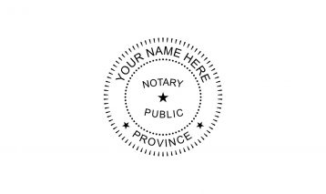 Notary Public Rubber Stamp E