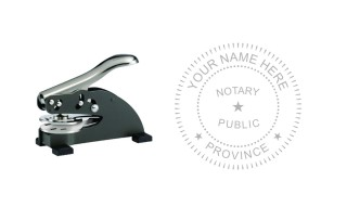 Notary Public Seal Desk E