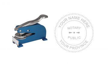 Notary Public Seal Long Reach Desk B
