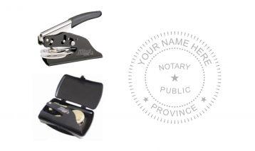 Notary Public Seal Pocket E