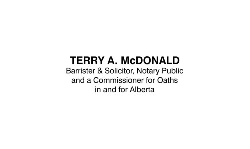 Commissioner for Oaths Alberta Barrister and Solicitor