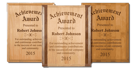 Direct Engraved Presentation Plaques