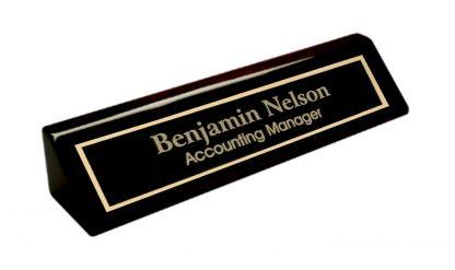 PNB210 Piano Finish Desk Wedge Black