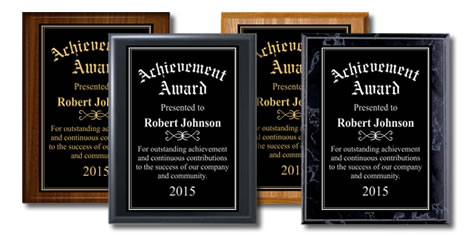 Wood Finish Plaques