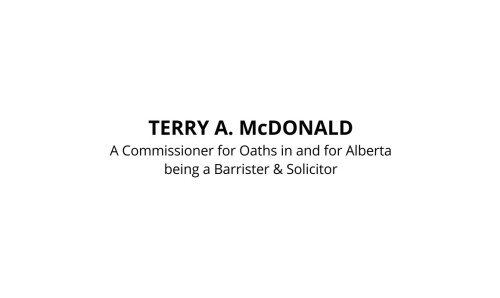 Alberta Barrister and Solicitor Commissioner for Oaths Stamp