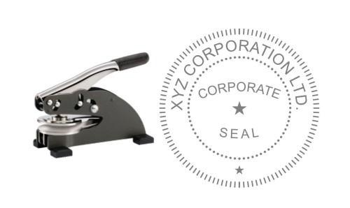 2 INCH CORPORATE SEAL