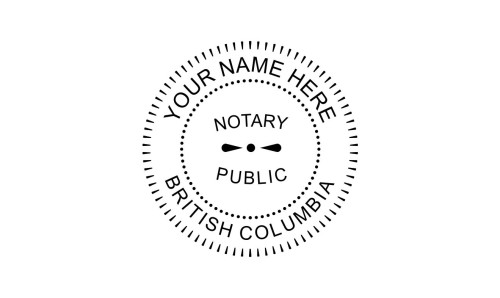 British Columbia Notary Public Embossing Seal