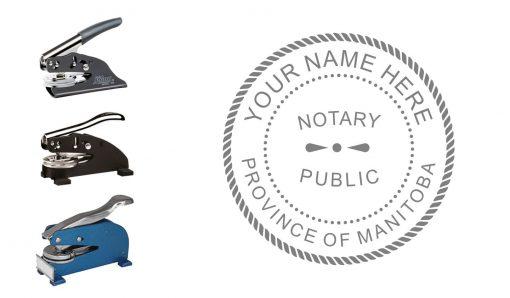 Manitoba Notary Public Seal Embosser