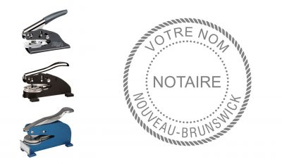 New Brunswick Notary Public Seal Embosser (French)