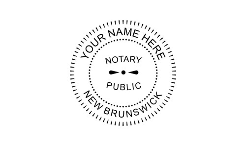 New Brunswick Notary Public Embossing Seal