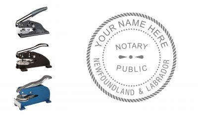 Newfoundland & Labrador Notary Public Seal Embosser