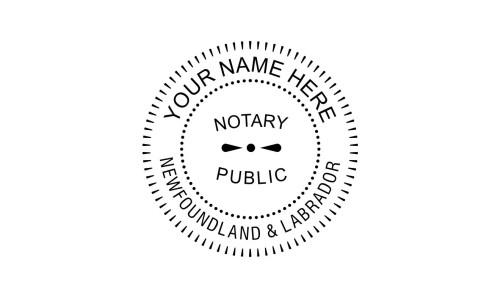 Newfoundland & Labrador Notary Public Embossing Seal