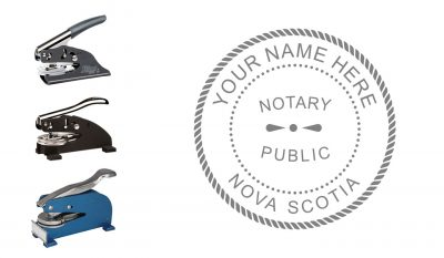 Nova Scotia Notary Public Seal Embosser