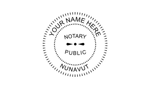 Nunavut Notary Public Embossing Seal