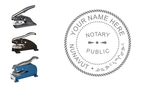 Nunavut Territory Notary Public Seal Embosser