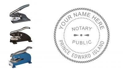 Prince Edward Island (PEI) Notary Public Seal Embosser